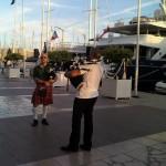 Jean-François et Olivier sur le port de Toulon pour la fête de la musique 2013 - 01